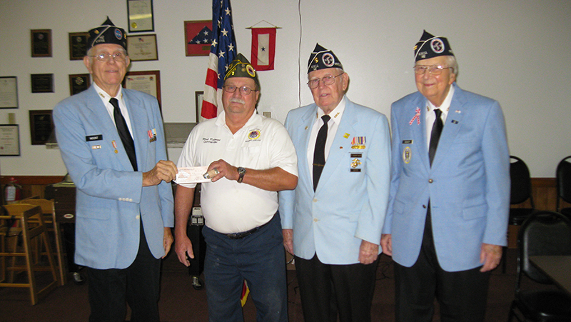 Chapter 142 presents check to AMVETS
